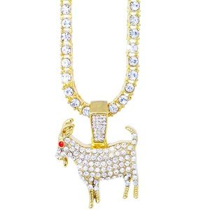 The GOAT 14K Gold Iced Chain NEW!